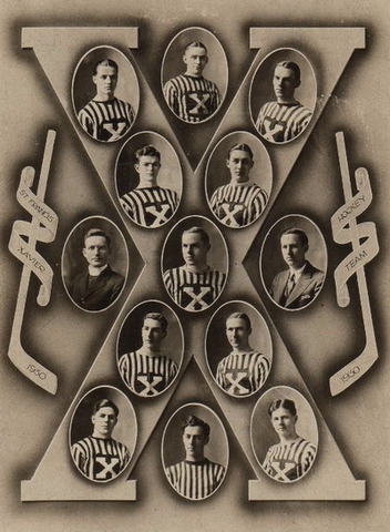 St. Francis Xavier University Hockey Team 1930