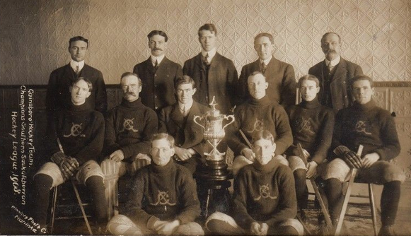 Gainsborough Hockey Team - Southern Saskatchewan Champions 1908