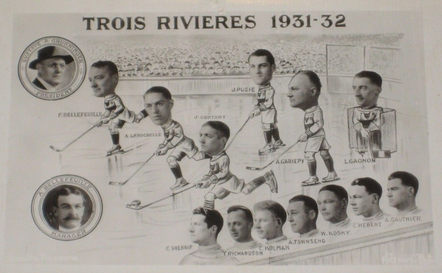 Trois Rivieres Black Foxes Hockey Team 1931