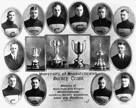 University of Saskatchewan Hockey Team - Champions 1923