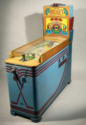 All-Star Hockey Arcade Game 1940s - Made by Chicago Coin Co.