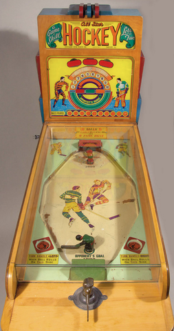 All-Star Hockey Arcade Game 1940s - Made by Chicago Coin Co