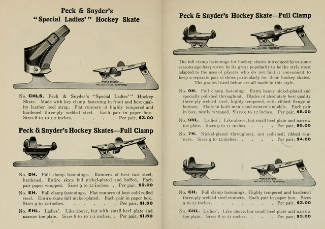 Peck & Snyder's Hockey Skates Full Clamp 1904