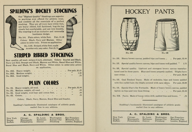 Antique Spalding's Hockey Pants & Hockey Stockings 1904
