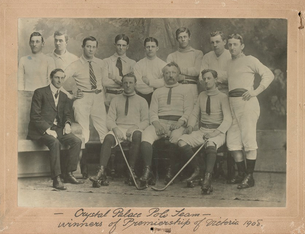 Crystal Palace Roller Polo Team - Victoria, Australia 1908