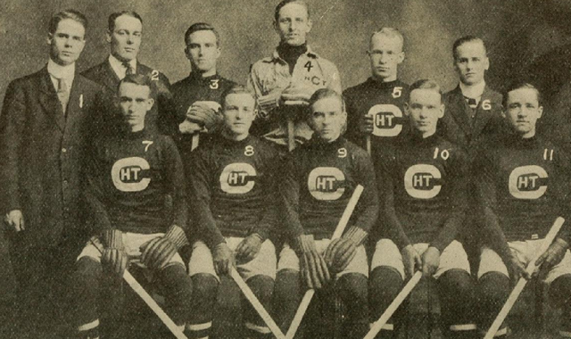 Cornell University Hockey Team - Intercollegiate Champions 1911