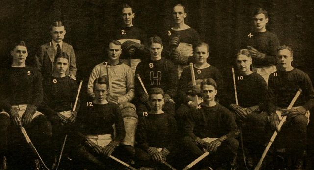 Harvard University Hockey Team 1916