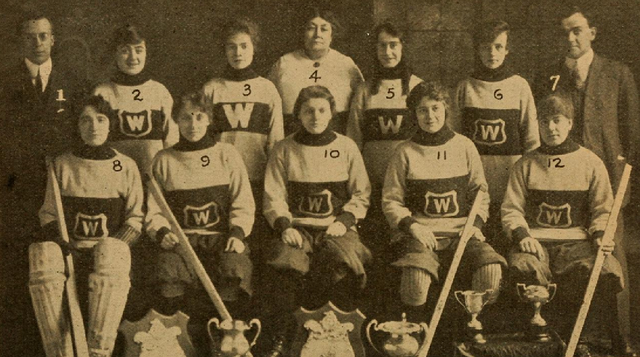 The Westerns  Eastern Ladies Hockey League Champions 1916 & 1917