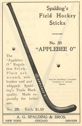 Spalding Field Hockey Stick - Model Applebee O 1902