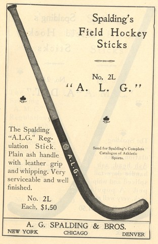 Spalding Field Hockey Stick - Model A.L.G. 1902