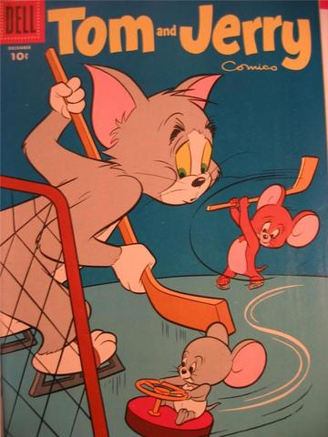 Ice Hockey Comic Book 1955  Tom and Jerry