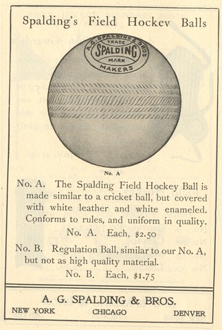 Spalding Field Hockey Ball - No. A 1902