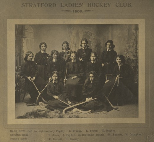 Stratford Ladies Hockey Club - New Zealand 1909