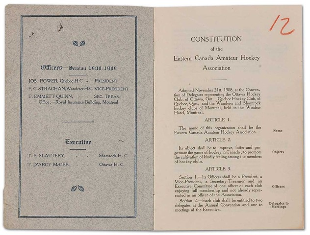 Hockey Constitution 1908