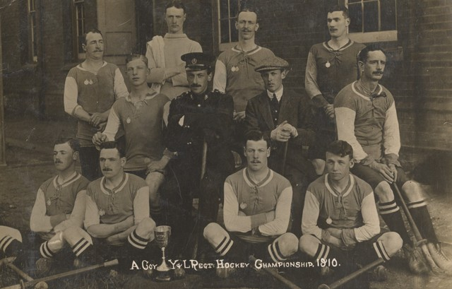 A Coy - York and Lancaster Regiment Field Hockey Champions 1910