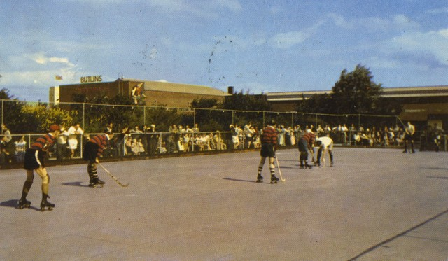 Rink Hockey /  Roller Hockey Game at Butlins Holiday Camp 1958