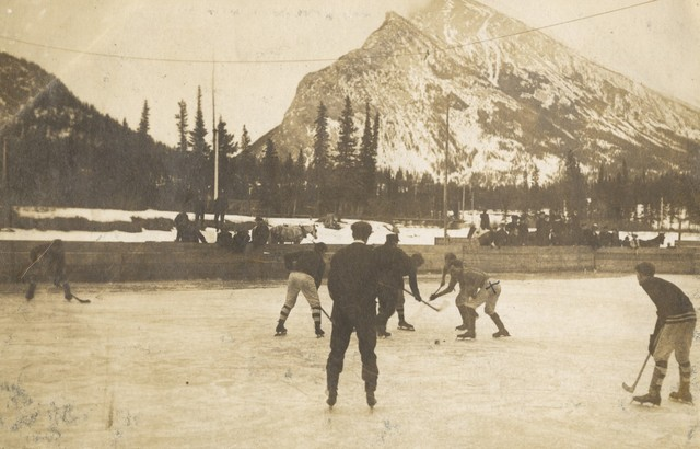 Ice Hockey Game at Canmore, Alberta 1907