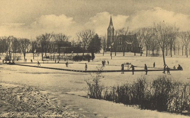 Menâs Ice Hockey - Campus Pond, University of Massachusetts 1910