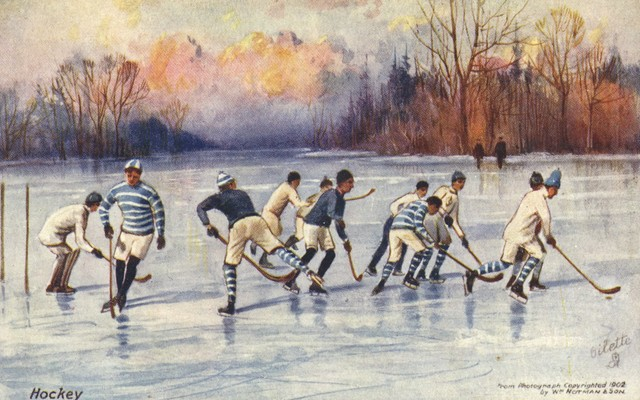 Antique Ice Hockey Postcard 1910 - McGill University Hockey