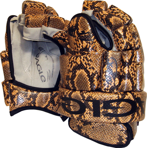 Snakeskin Hockey Gloves by Eagle