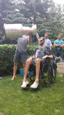 Ryan Van Asten Pours Stanley Cup ALS Ice Bucket over Friend Kyle