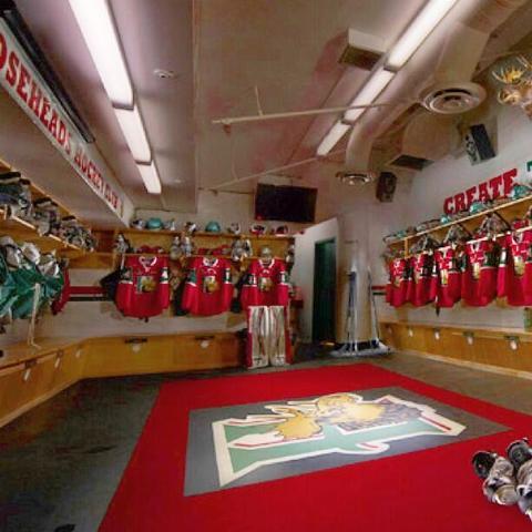 Halifax Mooseheads Locker Room Quebec Major Junior Hockey