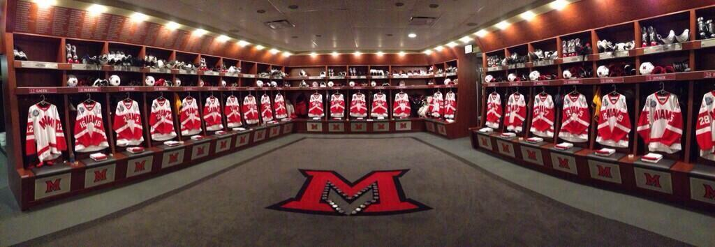 Miami Redhawks Men S Ice Hockey Locker Room Hockeygods