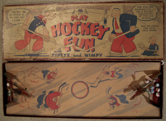 Popeye and Wimpy Hockey with Olive Oyl and Swee'Pea - 1935