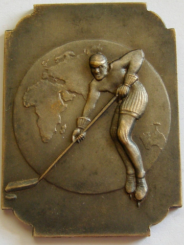 World & European Championships Ice Hockey Medal 1937