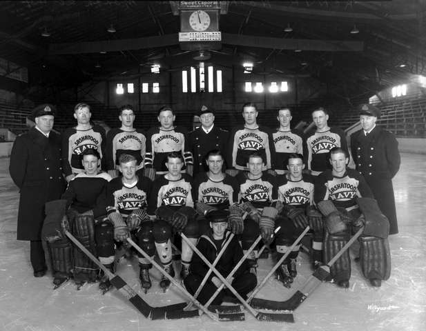 Saskatoon Navy Hockey Team 1944