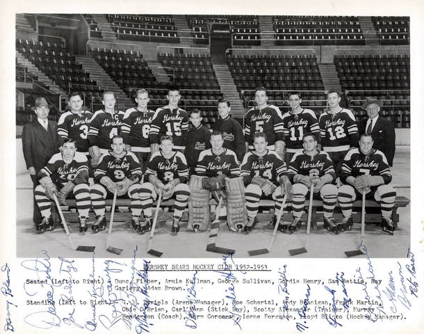 Hershey Bears Hockey Club Team Photo 1953
