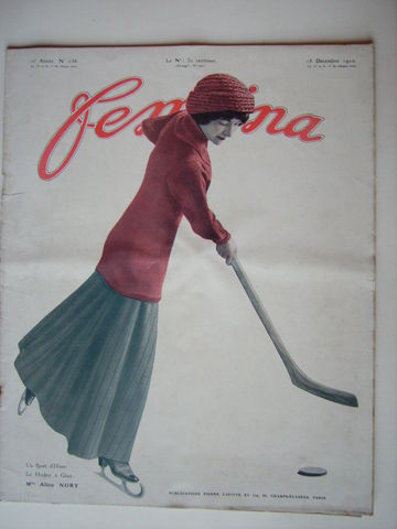 Alice Nory on the cover of Revue FEMINA - Paris 1910