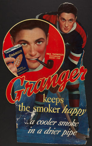 New York Rangers Paul Thompson Ad for Granger Tobacco 1930s