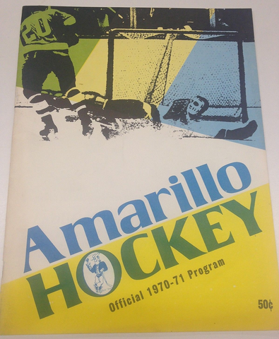Amarillo Wranglers Program Cover 1970