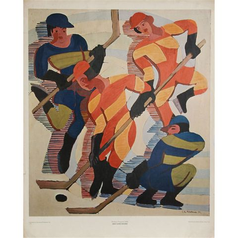 Hockey Players by Ernst Ludwig Kirchner - Women's Ice Hockey