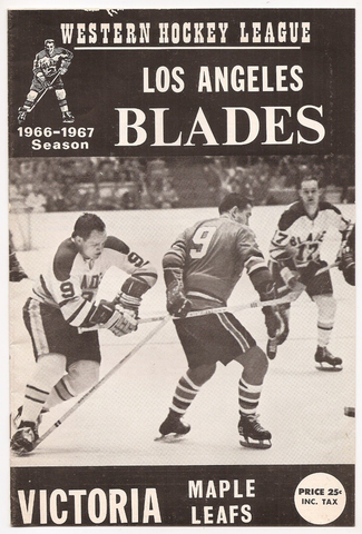 Los Angeles Blades vs Victoria Maple Leafs Program 1967