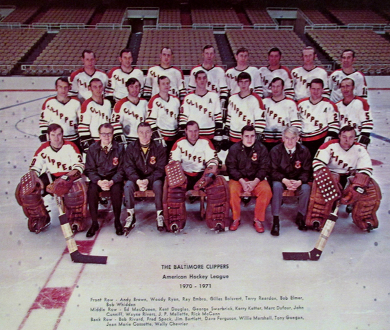 Baltimore Clippers Team Photo - American Hockey League 1970