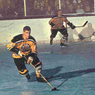Bobby Orr Wearing Jersey Number 27 - Bruins Pre-season 1966