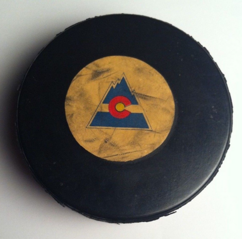 Colorado Rockies Hockey Puck made by Viceroy MFG Co. Ltd 1970s