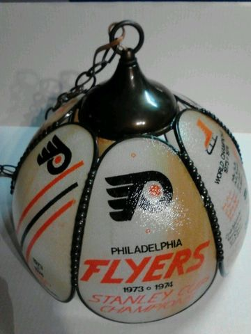 Philadelphia Flyers Hanging Lamp for 1974 Stanley Cup Champions