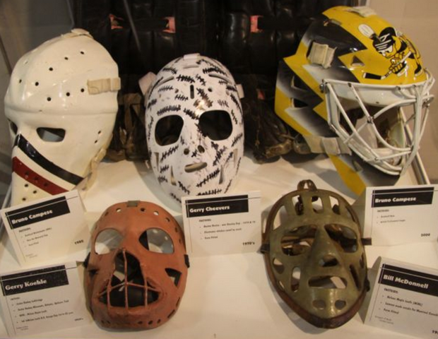 Antique Goalie Masks from Nelson Sports Museum British Columbia