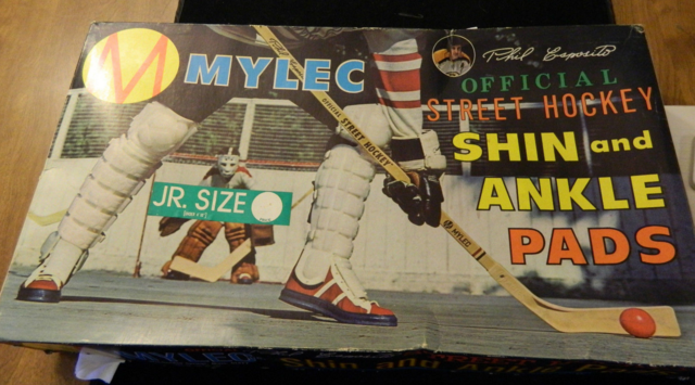 Mylec Street Hockey Shin and Ankle Pads 1970s - Phil Esposito