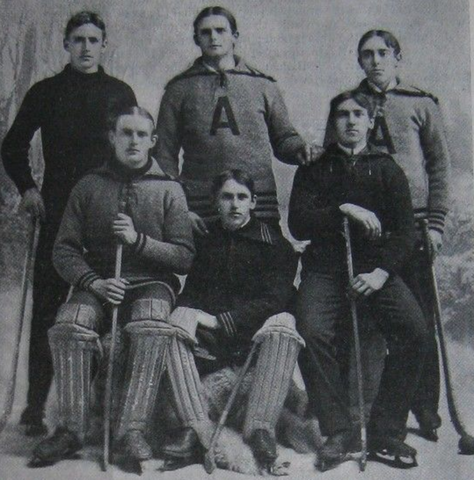 Arlington High School Ice Polo Team Massachusetts Champions 1897