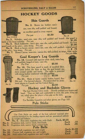 Schoverling, Daly & Gales Hockey Goods Ad 1916 - Polo Sticks