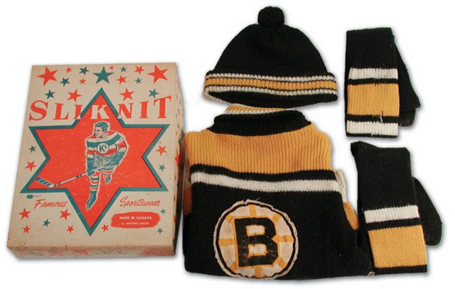 Boston Bruins Vintage Wool Kids Jersey in Original Box 1959