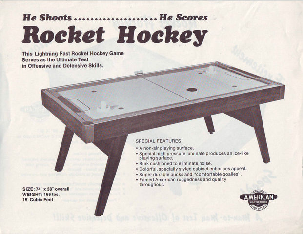 Rocket Hockey by American Shuffleboard Company 1968