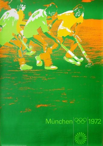 m nchen olympic games poster 1972 designed by otl aicher. Black Bedroom Furniture Sets. Home Design Ideas