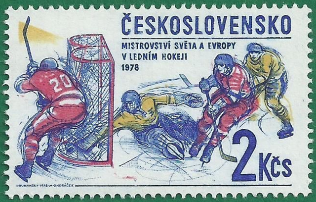 Czechoslovakia Stamp for 1978 World Ice Hockey Championships