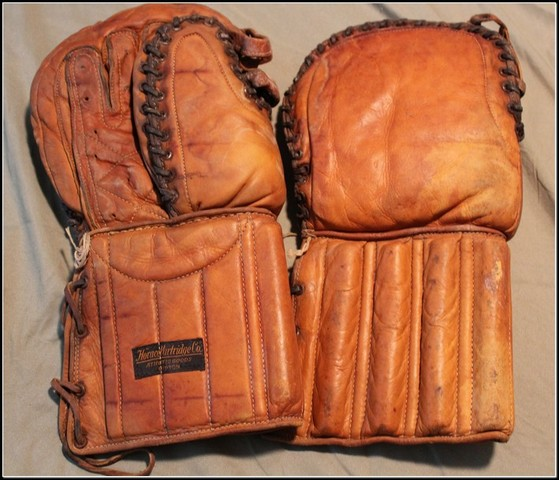 Horace Partridge Hockey Goalie Gloves 1930s