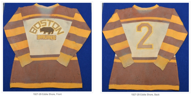 Eddie Shore Hockey Jersey 1927 to 1929 Boston Bruins